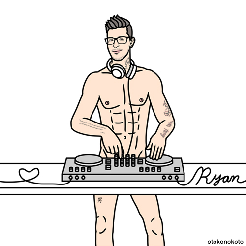 Man DJing - Art For Ryan Ress - Instagram @the_ryzee_tripper