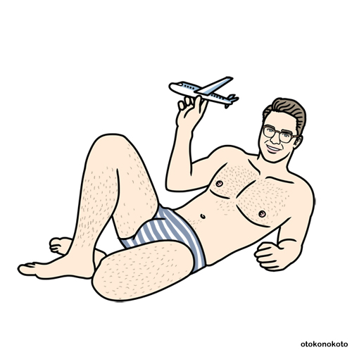 Man With Toy Airplane - Art For Brad - Instagram @mrshoreman